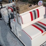 Red Fin Seating Featuring 94qt Igloo Marine Ice Chest Removable Cushions