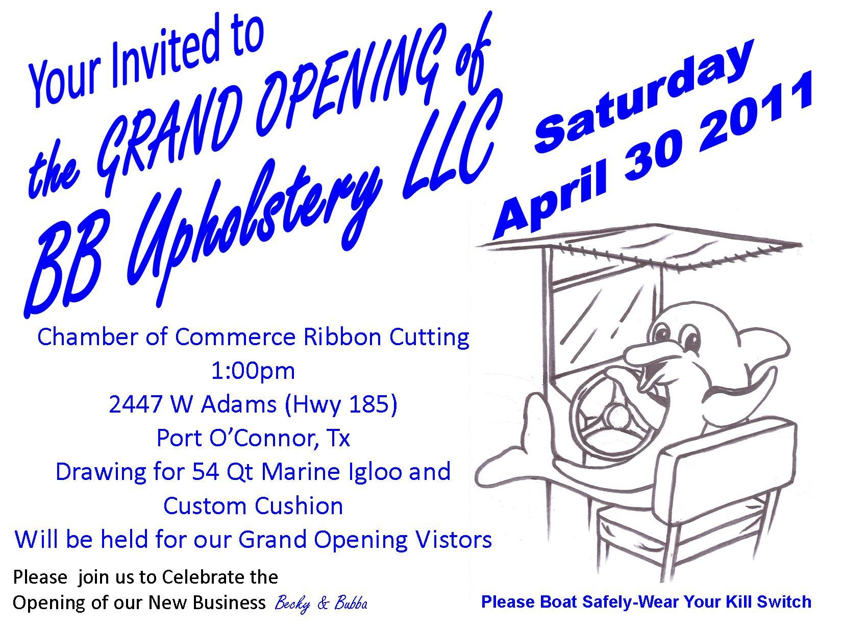 Grand Opening Announcement