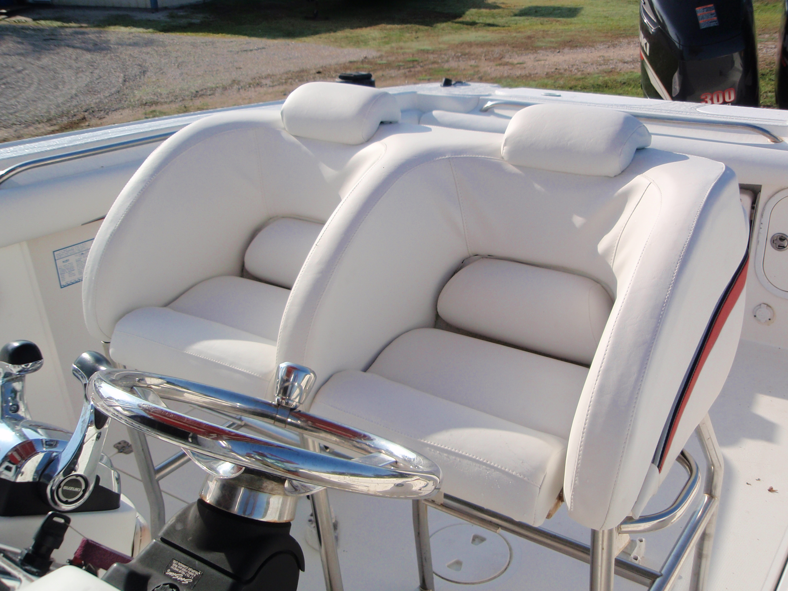 Scarab seating and knee rails bb upholstery for How to restore a boat interior